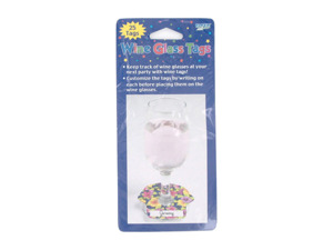 "Wholesale: ""Tropical Beachwear"" wine glass tags, pack of 25"