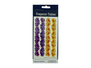 Wholesale: Floral temporary tattoos