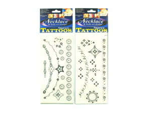 Wholesale: Necklace-design temporary tattoos, assorted