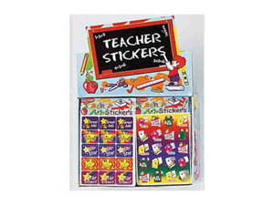 Teacher reward stickers display