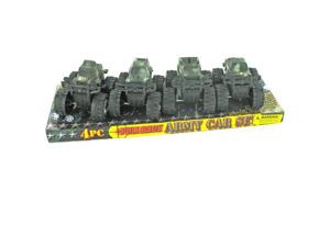 4 piece pull back army car