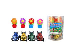 Wholesale: Flower Fan & Race Car Pencil Sharpeners Countertop Display