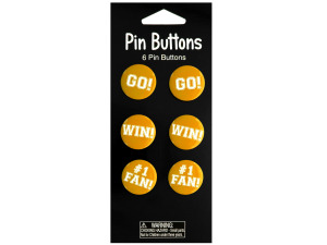 Wholesale: Yellow Cheer Pin Buttons