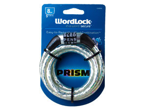 WordLock 8mm Prism Flexible Steel Cable Bike Lock