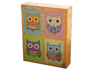 Wholesale: Glitter Owls Notecards & Envelopes Set