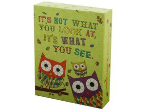 Wholesale: Owl & Snail Sayings Notecards & Envelopes Set