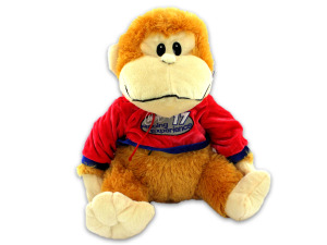 Plush monkey with hoodie