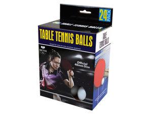 Wholesale: 24 Pack Table Tennis Balls