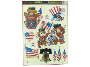 Wholesale: Patriotic pals window clings