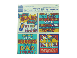 Wholesale: Father's Day window clings