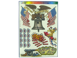 Wholesale: Patriotic Liberty & Justice Window Cling Decorations