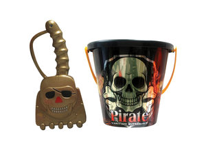 Wholesale: Assorted 6'' pirate bucket with shovel