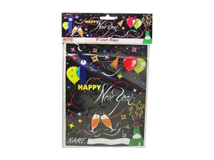 Wholesale: New Year's party bags, pack of 8