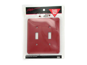 Double Red Light Switch Plate