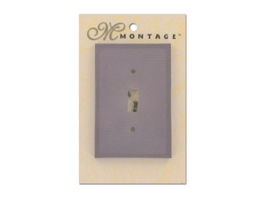 Lavender ribbed switch plate