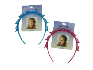Wholesale: Girl's glitter twist and clip headband