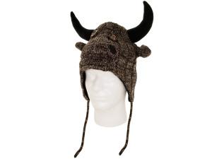 Buffalo Knit Earflap Hat