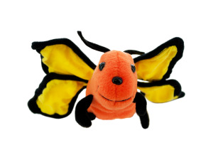 Orange Butterfly Plush Toy