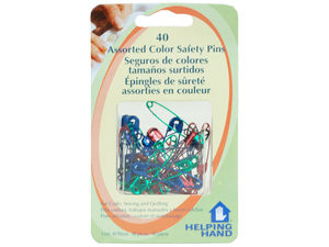 Wholesale: Helping Hands 40 Piece Colorful Saftey Pins