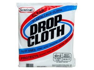 Wholesale: Sentinel 9'x12' Clear Plastic Drop Cloth