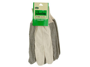 Wholesale: Large Canvas Work Gloves with Texture Dots