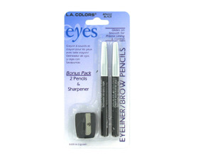 Set of two eyeliner/brow pencils and sharpener