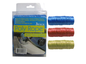 Wholesale: Polypropolyne rope, 3 pack, 96 feet total