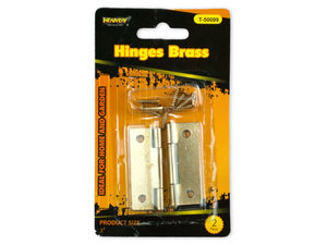 Wholesale: Hinges Brass Set of 2