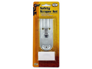 Wholesale: Safety Scraper Set with Extra Blades