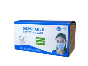 Wholesale: 50-Pack Triple Layer Disposable Protective Masks