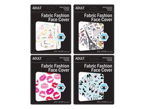 Wholesale: Women's Fashion Washable Face Mask Adult Size 4 Asst