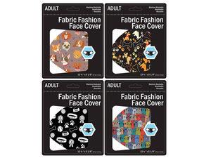 Wholesale: Dog Design Washable Face Masks 4 Asst Adult Size