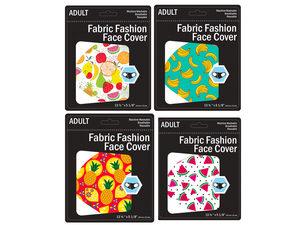 Wholesale: Fruit Design Washable Face Mask 4 Asst Adult Size