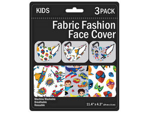 Wholesale: Kid's 3 Pack Superhero's Washable Face Mask 3 Asst