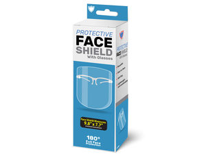 Wholesale: Protective Face Shield with Glasses
