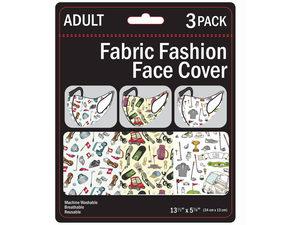Wholesale: 3 Pack Golf Adult Size Washable Face Mask 3 Asst
