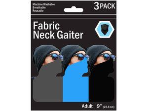 Wholesale: 3 Pack Solid Neck Gaiter 3 Asst Colors