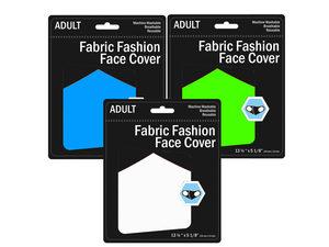 Wholesale: Adult Neon Colored Washable Face Masks 3 Asst