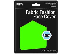 Wholesale: Kids Neon Colored Washable Face Masks 3 Asst