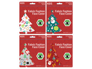 Wholesale: Kids 4 Asst Christmas Washable Face Masks