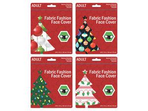 Wholesale: Adult Christmas Ornaments & Lights Washable Face Masks 4 Asst