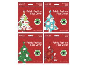 Wholesale: Adult Santa & Friends Christmas Washable Face Masks 4 Asst