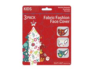 Wholesale: 3 Pack Kids Christmas Theme Washable Face Masks