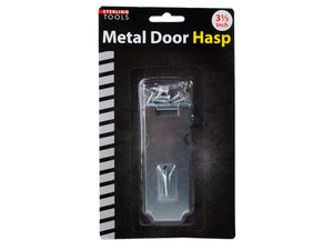 Metal Door Hasp with Mounting Hardware