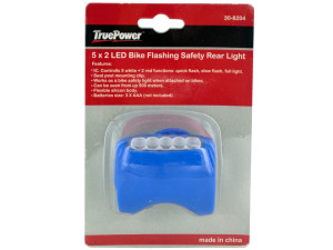 5 x 2 led bike flashing safety read light