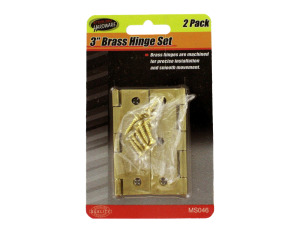 Brass Hinge Set with Screws