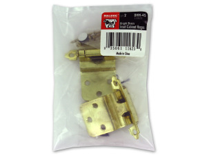 Wholesale: Cabinet hinges, pack of 2, brass
