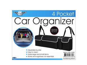 "Wholesale: 35"" x 10"" 4-pocket car trunk organizer"