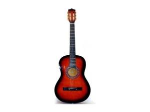 Wholesale: Dark tan 6 string guitar