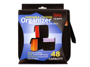 Portable CD and DVD organizer (assorted colors)